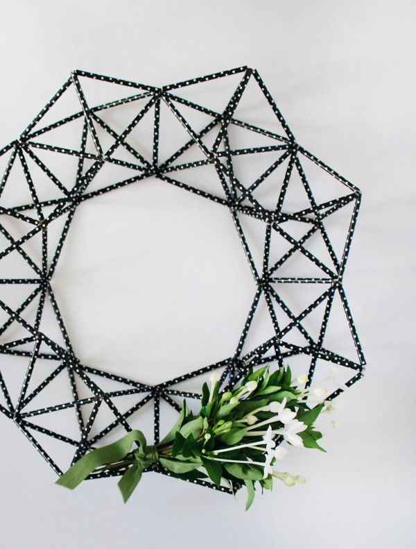 the red thread himmeli wreath tutorial in SCOUT magazine
