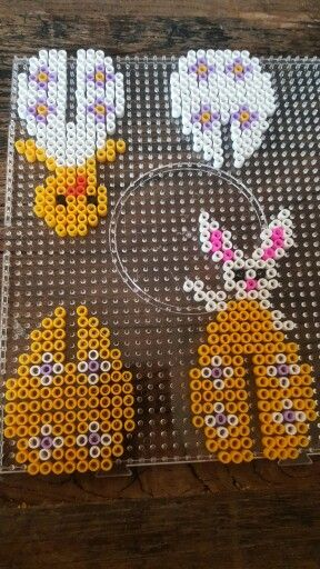 Hama beads easter egg rabbit/chicken