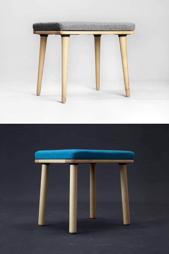 Scandinavian Modern Upholstered Stool In Natural Oak Walnut Beech Upholstered Stool Most Comfortable Office