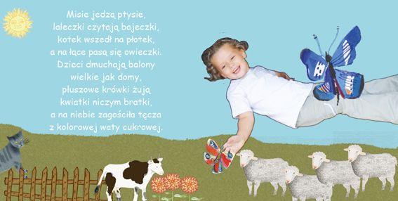 zdjęcie dziecka wycięte z tła i wkomponowane w ilustracje