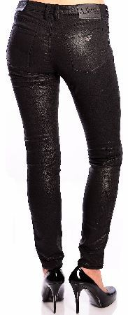 Armani Jeans Womens J28 Skinny Fit Jeans Armani Jeans Womens J28 Skinny Fit Jeans skinny leg stretchy jeans from Armani Jeans in comfort fabric. In a sparkly black fabric with two front pockets one with a small metal Armani Jeans emblem i http://www.comparestoreprices.co.uk/designer-clothing/armani-jeans-womens-j28-skinny-fit-jeans.asp