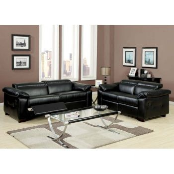 Acme 50280 Darcel Contemporary Black Leather Sofa Set With Adjustable  Headrest And Footrest Part 91