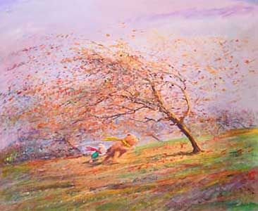 Winnie the Pooh - A Very Blustery Day - Harrison Ellenshaw - World-Wide-Art.com - $750.00 #Disney #Ellenshaw