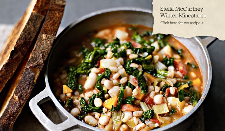 Stella McCartney's Winter Minestrone from the Meat Free Monday cookbook. #kikkiK