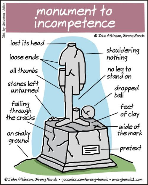 monument to incompetence | Wrong Hands