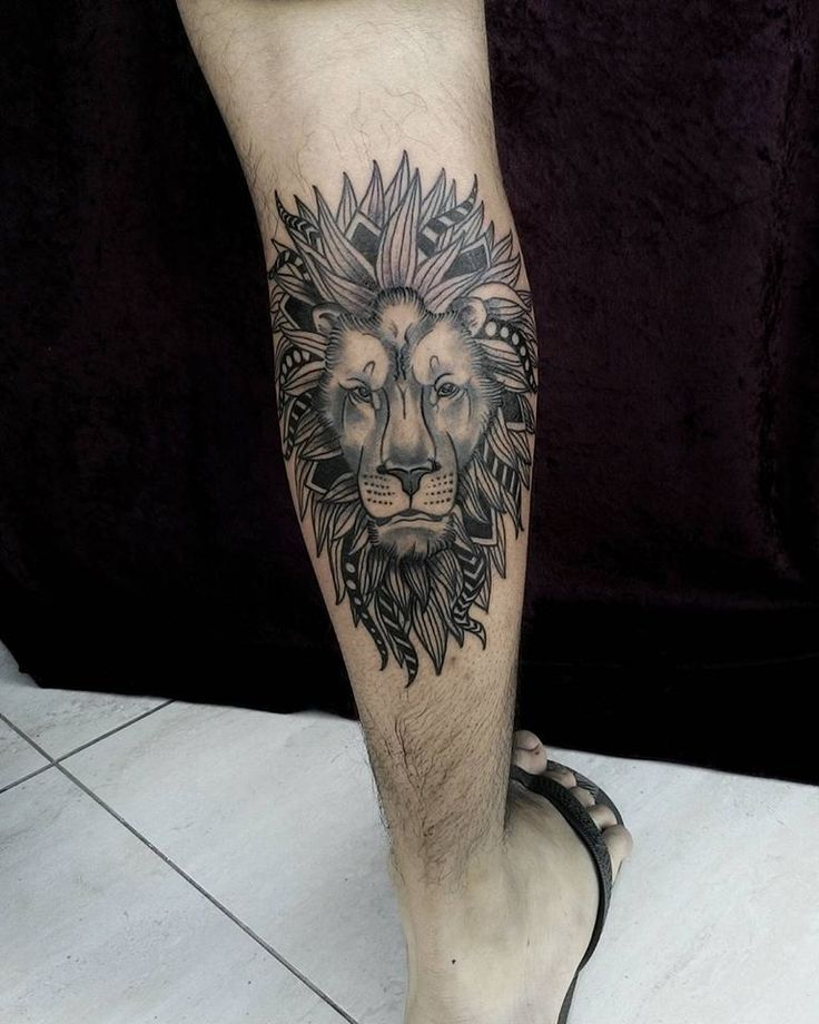 Tattoo feita pelo Renan Neiva Sampaio #Lion #Tattoo #Awesome