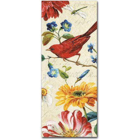 Trademark Fine Art Rainbow Garden VII Cream Canvas Art by Lisa Audit, Size: 10 x 24, Multicolor
