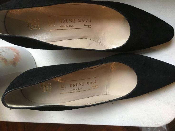 Bruno magli black Suede Women  Heels shoes sz 6 #BrunoMagli #Heels #WeartoWork