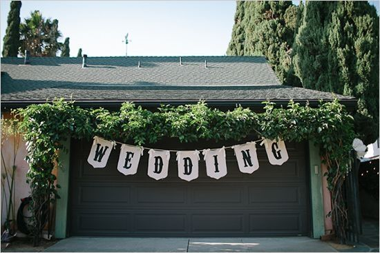 Wedding in your backyard... or: