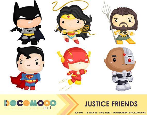 Superheroes Clipart Superhero Clip Art Justice Heroes Free
