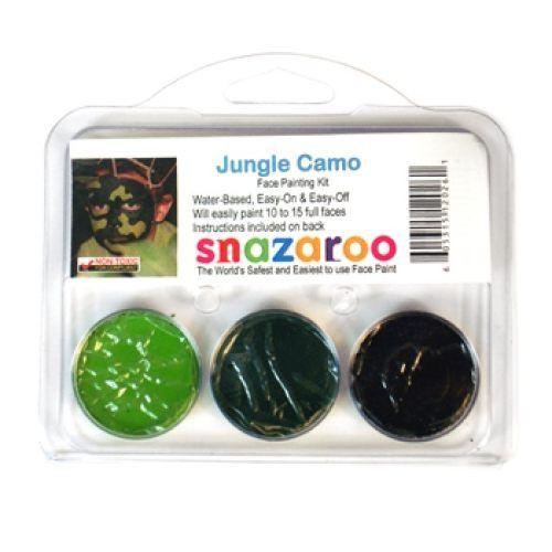 Snazaroo Jungle Camo Face Painting Kits (3 Colors)