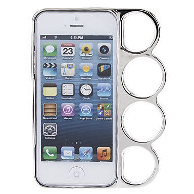 Grappig Ontwerp Behoudende Ring Zilver Harde Bumper Frame Case voor iPhone 5/5S – EUR € 3.63