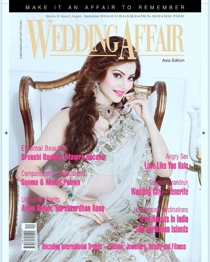 Our Cover Star Urvashi Rautela for the International magazine @wedding_affair . Pl grab your copies now !! Marriage is the golde
