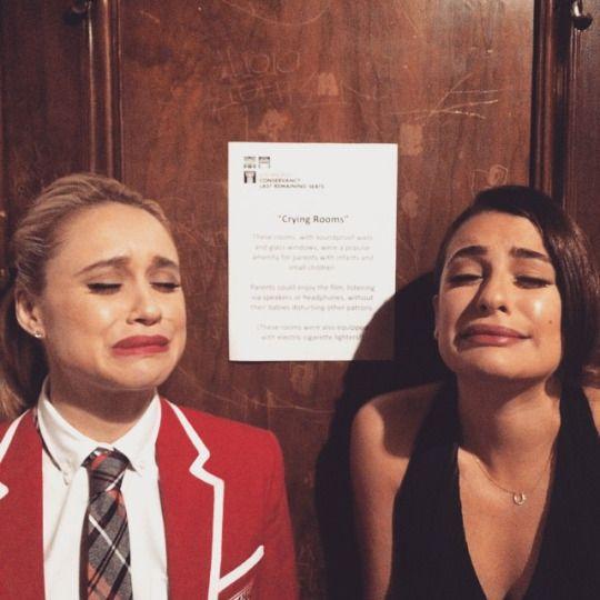 darrencriss: Feelin a little teary-eyed? We got a room for that. #GleeGoodbye