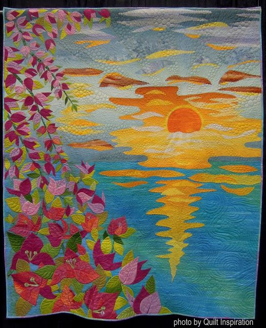 Pacific International Quilt Festival The Sunrise in Bougainvilleas