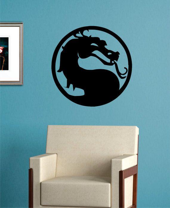 Mortal Kombat Dragon Decal Sticker Wall Vinyl Art