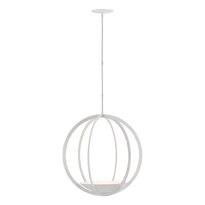 Currey & Company 9000-0211 Moondance 3-Light Orb Chandelier #home decor sale & deals Finish:Matte White, Light Bulb:(3)60w B10 Cand C Incand A minimalist masterpiece, the Moondance Orb Chandelier is a classic orb shape updated by a ges...