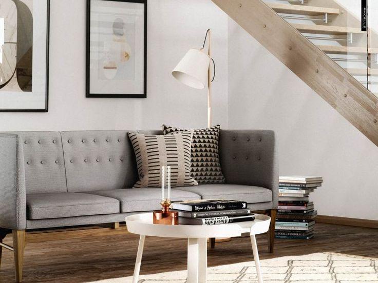 Scandinavian living room. Decor Dots. http://www.kenisahome.com