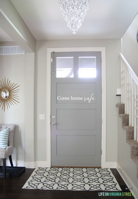 Come Home Safe Front Door Decal in 2019 | Products | Painted