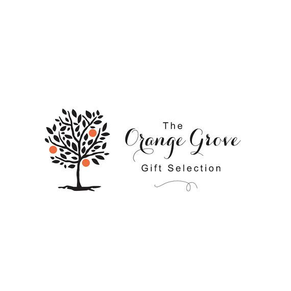 Tree logo, orange tree logo, custom logo, pre made logo, growth logo, gift shop logo, instant logo, download logo, logo design.