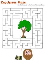 zacchaeus craft | Zacchaeus Printable Activity Sheets