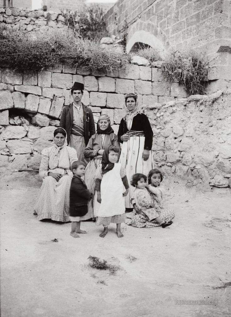 Native Family: Nazareth, Palestine 1900-1920