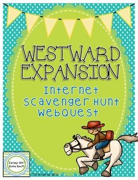 This internet scavenger hunt covers all of the most important parts of the Westward Expansion. This scavenger hunt covers Louisiana Purchase, Manifest Destiny, the war with Mexico, Oregon Territory, California Gold Rush, the Wild West, and the end of the era of Westward Expansion.This scavenger hunt is an awesome way to incorporate technology into your classroom!Includes:- 3 page internet scavenger hunt- answer keyThis internet scavenger hunt covers Georgia Performance Standards:SS4H6 The…