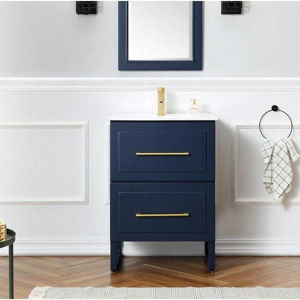 You Ll Love The Fowlkes 24 Single Bathroom Vanity Set At Wayfair Great Deals On All Home Improvemen Single Bathroom Vanity Bathroom Vanity Bathroom Makeover
