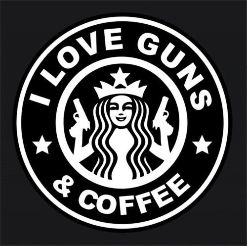 I Love Guns and Coffee Car Window Decal A1 | eBay