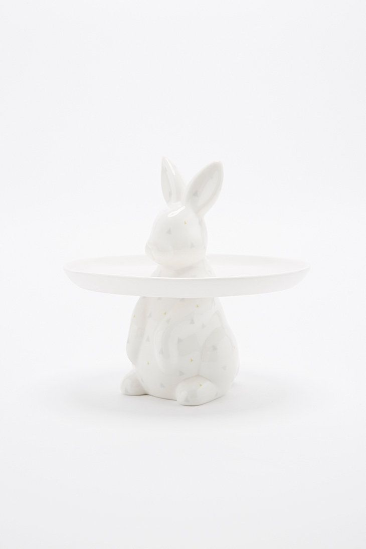 Rabbit Cake Stand in White