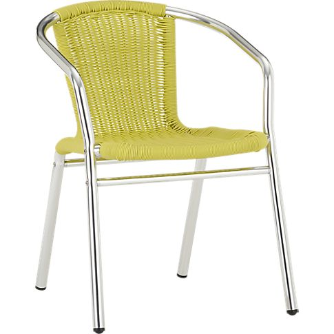 rex chartreuse arm chair in outdoor furniture | CB2