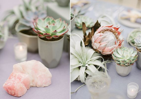 Pastel succulent wedding inspiration | Photo by Apryl Ann Photography | Read more -  http://www.100layercake.com/blog/?p=75163