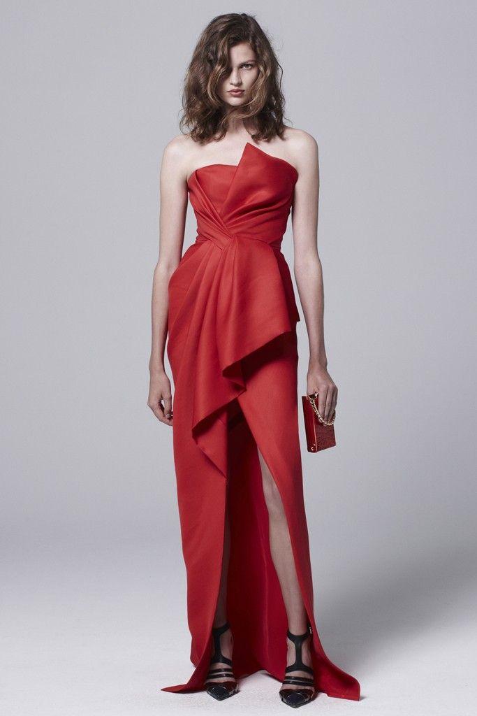 J.Mendel Resort 2014 - red dress