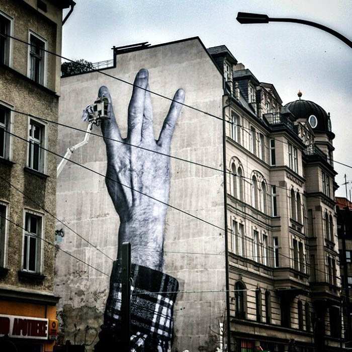 JR New Mural In Berlin, Germany StreetArtNews: Street Artists, Creative Stuff, Jr Artists, Artists Jr, The Cities, East Berlin, Creative Art, Jr Street, Graffiti Art