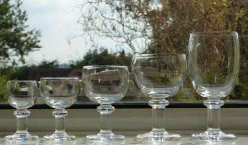 5-Rare-HOLMEGAARD-Glassworks-BISTRO-PICNIC-Schnapps-SHOT-Glasses-PER-LUTKEN-1976