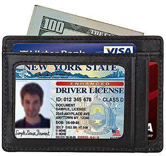 Mens Slim Wallet RFID Front Pocket Wallet Minimalist Secure Credit Card Holder…