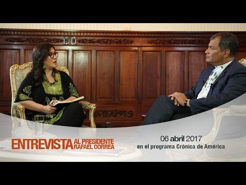 Entrevista al Presidente de la República, Rafael Correa, en el programa ...