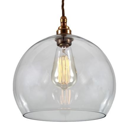 Show details for Eden 25cm Clear Sphere Pendant