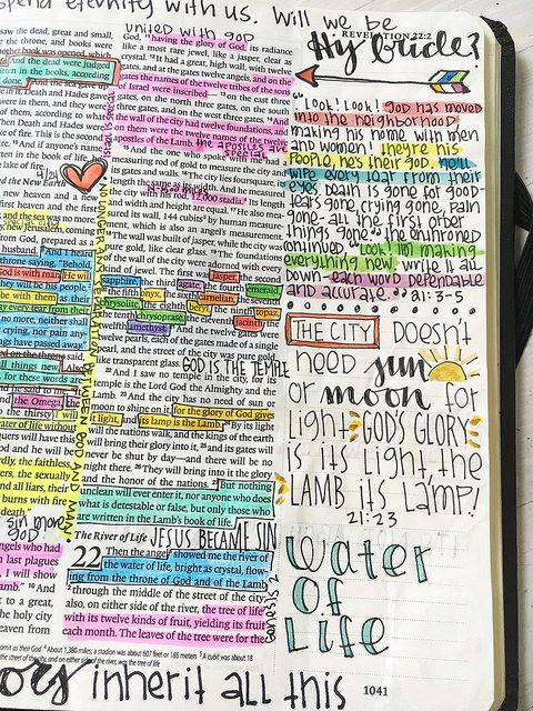 Bible Journaling - Revelation 21