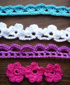 Crochet Flowers and Lace Trims