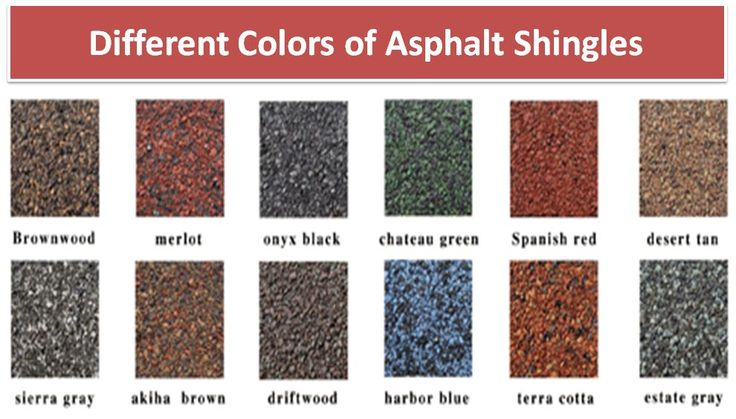 Different Colors Of Asphalt Shingles Asphaltshingles