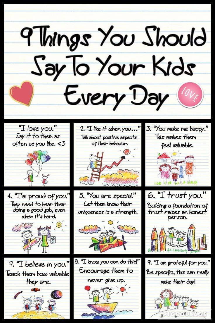 9 good things to say to your kids every day. Tips …