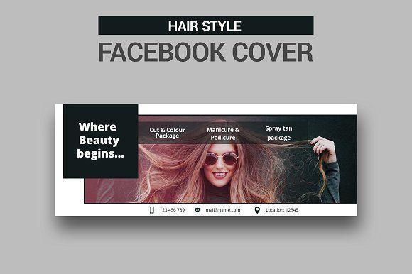 Hair Style Facebook Cover Sk Facebook Cover Photoshop Template Design Social Media