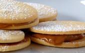 Alfajores-- Peruvian cookies with Dulce de Leche (caramel kind of flavor)