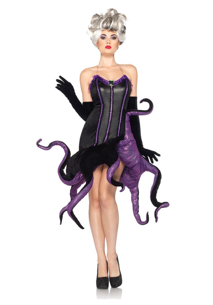 10 best theatre bizarre ideas images on pinterest carnivals disney villains ursula adult costume includes velvet dress with pleated ribbon trim bendable sequin dot tentacle skirt and optional clear straps solutioingenieria Images