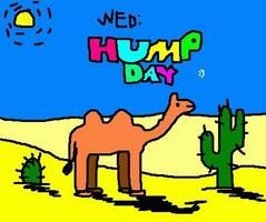 Happy Hump Day! Used in the context of climbing a proverbial hill to get through a tough week.