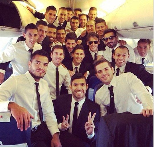 Selfie with Argentina's football team <3