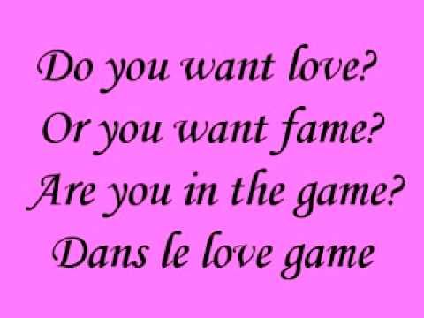 Love Game- Lady GaGa {{Lyrics}}