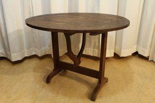 Antieke Franse wijntafel, table de vigneron 23429 op www.lansantiek.com