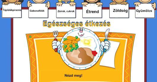 Egészséges étkezés, táplálékpiramis 1-4. osztály /interaktív tananyag/